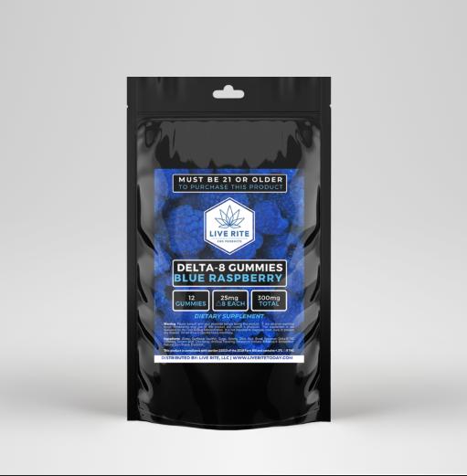 Live Rite Delta 8 Gummies 300mg - Assorted Flavors