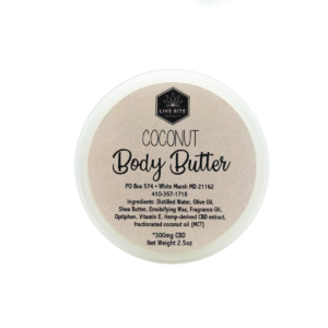 Live Rite Body Butter - 300mg - Various Scents