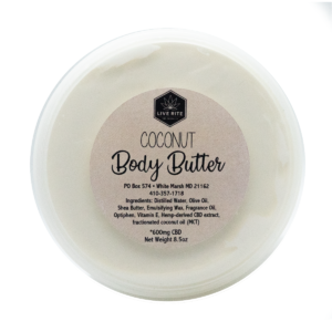 Live Rite Body Butter - 600mg - Various Scents
