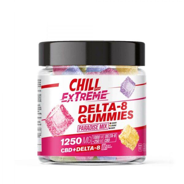 Chill Plus 1250mg X 250mg Delta 8 Gummies, Assorted Flavors