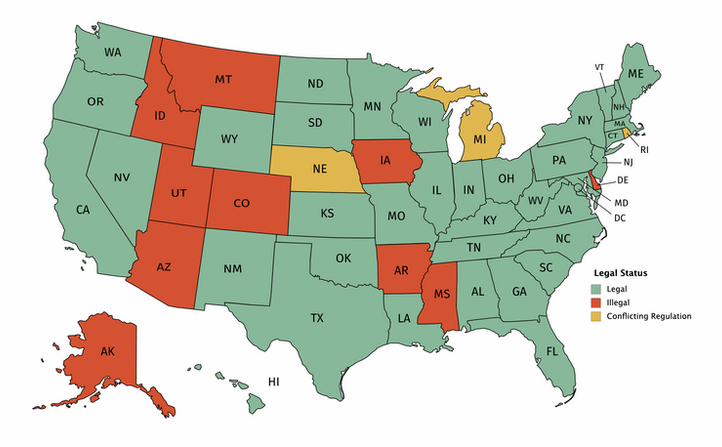 Legal Delta 8 states
